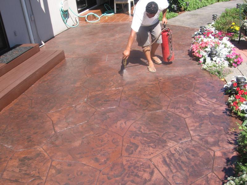 Entrance   Stamped Concrete Patio